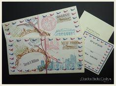Destinations pocket fold invitation