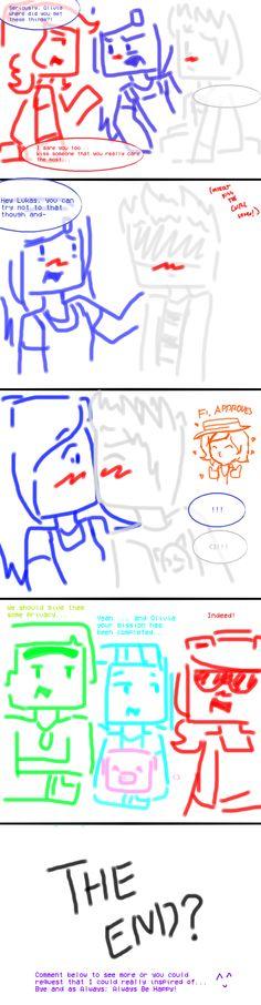 Minecraft Story Mode: Truth or Dare #3 by PrettyXTheXArtist.deviantart.com on @DeviantArt