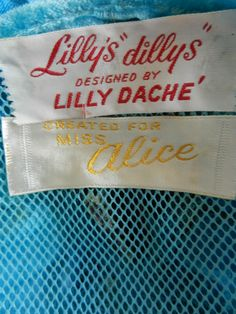 """Lilly's """"dillys"""" designed by Lilly Daché. Created for Miss Alice."""