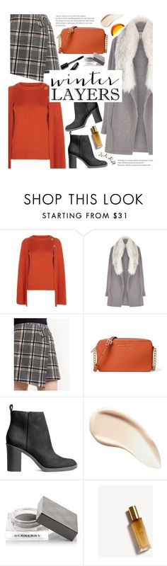 """""""Film Festival: Sundance Style"""" by beebeely-look ❤ liked on Polyvore featuring Vanessa Bruno, River Island, MICHAEL Michael Kors, Burberry, Sweater, streetwear, sundance and StreetChic"""