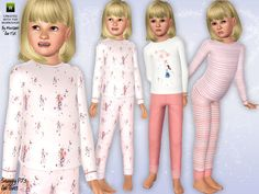 The Sims Resource - TSR Snuggly pyjamas for girls by minicart - Sims 3 Downloads CC Caboodle