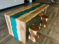 40 Amazing Resin Wood Table For Your Furniture. For several reasons, resin furniture has become a popular alternative to wooden furniture created for outdoor use. It looks similar to painted wood, but. Driftwood Furniture, Resin Furniture, Modern Home Furniture, Furniture Ideas, Furniture Dolly, Wooden Furniture, Wood Resin Table, Wood Tables, Wood Table Design