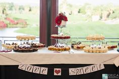Cupcake Dessert Table - Desert Willow Golf Resort Wedding Venue #desertwillowweddings