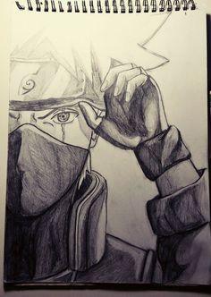How To Draw Kakashi Sharingan 2019 Naruto Drawings, Naruto Sketch Drawing, Kakashi Drawing, Anime Drawings Sketches, Anime Sketch, Manga Drawing, Cool Drawings, Pencil Drawings, Anime Naruto