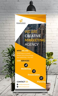 This is simple, eye-catching & corporate Roll Up Banner used for any business - Templates Engine Pull Up Banner Design, Standing Banner Design, Web Banner Design, Web Design, Tradeshow Banner Design, Bunting Design, Graphic Design, Rollup Design, Exhibition Banners