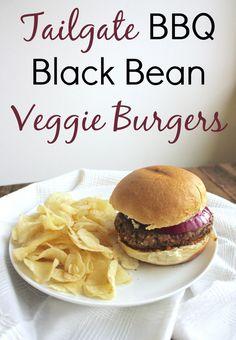 Tailgate BBQ Black Bean Veggie Burger Recipe with Cape Cod ChipLove AD