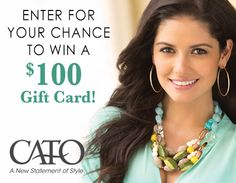 Want a chance to win a $100 Cato Fashions gift card  this is worth the effort because Cato's is awesome.