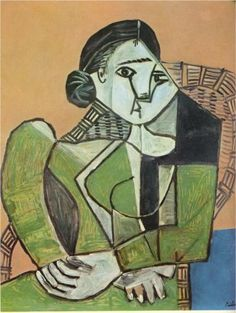 Woman+sitting+in+an+armchair+-+Pablo+Picasso