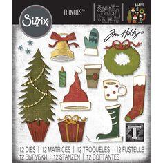 Sizzix 664210 Wreath /& Snowflake by Tim Holtz Stanzschablonen Einheitsgr/ö/ße Mehrfarben