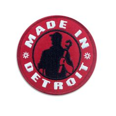 Made In Detroit Patch - Red with Black