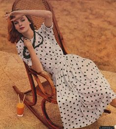 #vintage #clothing #1950s #fifties #dress #style #clothing #polkadots