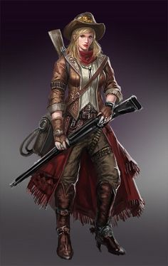 Cowgirl, dr4gon5oul 5oul on ArtStation at https://www.artstation.com/artwork/cowgirl-d029a80c-1135-4122-ae7f-9e91c167266b