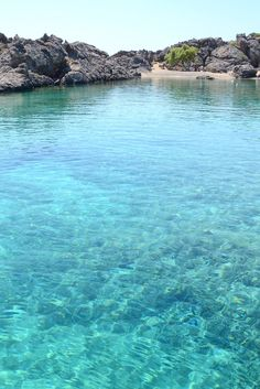 Krios beach in Paleochora, Chania, Crete, Greece Places To Travel, Places To Visit, Zakynthos, Greece Holiday, Seaside Village, Greece Travel, Santorini Travel, Holiday Destinations, Travel Destinations