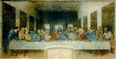 """""""Last Supper"""" was painted by the Italian artist Leonardo da Vinci. The picture is painted on the back wall of the dining room in the convent of Santa Maria delle Grazie in Milan. Renaissance Kunst, Renaissance Paintings, Renaissance Artists, Milan Museum, Da Vinci Last Supper, The Last Supper Painting, Art Ninja, Saint Jean Baptiste, Most Famous Paintings"""