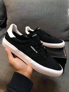 Mens Vans Shoes, Adidas Shoes, Shoes Sneakers, Adidas Fashion, Sneakers Fashion, Fashion Shoes, White Casual Shoes, Black Shoes, Skechers Elite