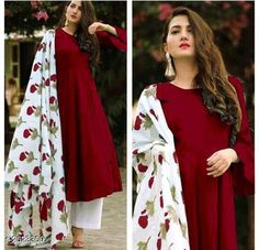 Pakistani Salwar Kameez, Patiala, Churidar, Sharara Suit, Anarkali Suits, Sexy Outfits, Pretty Outfits, Red Kurti, Silk Kurti