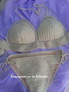 crochet bikini set!!! Bikini Set, Crochet Bikini, Swimwear, Bags, Fashion, Bathing Suits, Handbags, Moda, Swimsuits