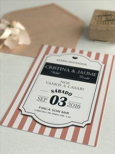Invitación de boda colección Chic & Vintage modelo Tag