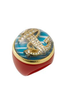 Betsey Johnson Anchor Ring available at #Nordstrom