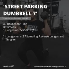Crossfit Workout Program, 7 Workout, Crossfit Workouts At Home, Dumbbell Workout, Workout Ideas, Workout Programs, Functional Workouts, Boot Camp, Burpees