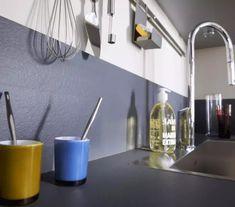 Découvrez 47 idées déco pour la crédence de la cuisine Home Interior Design, Backsplash, Sink, Bathtub, Home Decor, White Kitchens, Relief, Ideas, Modern Grey Kitchen