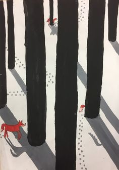 Light & shadow: Fox in the snow - SCHÖN.INK - creative and beautiful. - Light & shadow: Fox in the snow – SCHÖN.INK – creative and beautiful. Painting For Kids, Art For Kids, Winter Instagram, 2nd Grade Art, Winter Art Projects, Young Art, Perspective Art, Hello Winter, Winter Wallpaper