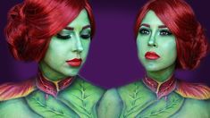 Poison Ivy Body paint | Airbrush makeup | AMBER MANCHA Poison Ivy Makeup, Lets Get Weird, Airbrush Makeup, Body Painting, Amber, Instagram, Cosplay, Costume, Dreams