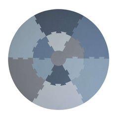 Sebra lekegulv blå