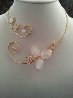 Hey, I found this really awesome Etsy listing at https://www.etsy.com/listing/212426494/wedding-jewelry-alu-wire-necklace-white