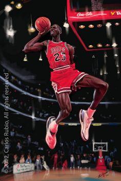 Caricatura de Michael Jordan #Bulls #NBA
