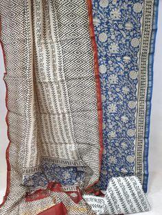 Partywear Azure and white chanderi suit dupatta for ladies Suits For Sale, Suits For Women, Cotton Suit, Silk Suit, Salwar Pants, Chanderi Suits, Block Print Saree, Indian Designer Suits, Suit Fabric