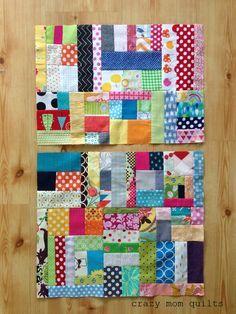 crazy mom quilts: scrap vortex QAL week 4