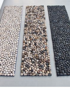 Construction adhesive pebbles from the Dollar Tree cheap rubber matt- great door matt diy_bathroom_dollar_stores