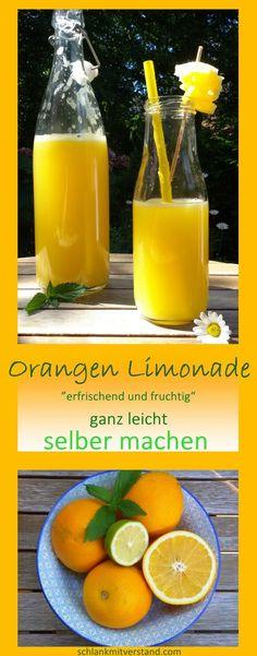 Orangen Limonade selber machen – schlank mit verstand