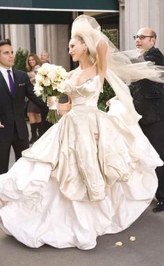 Bridal Beauty from Sex and the City Fashion Evolution: Carrie Bradshaw | E! Online