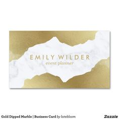 gold dipped marble business card branding