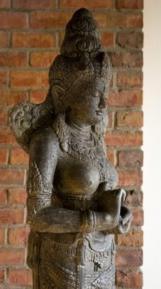 Goddess statue agains industrial brick wall Colonial Furniture, Indian Furniture, Old Wood, Brick Wall, Indie, Industrial, Statue, The Originals, Industrial Music