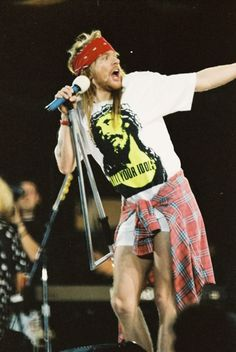 Axl Rose, Freddie Mercury Tribute Concert, Wembley Stadium, April 20, 1992. - GUns N' Roses
