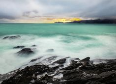dramatic winter seascape