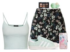 """Untitled #673"" by cupcakes077 ❤ liked on Polyvore featuring Miss Selfridge, Topshop, adidas, Casetify, Eos and NARS Cosmetics"