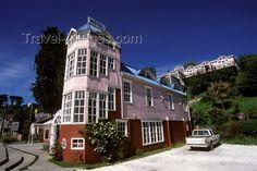 chiloe island | Castro, Chiloé island, Los Lagos Region, Chile: charming pink hotel ...