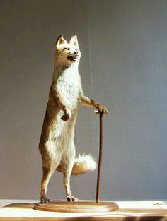 Whimsical taxidermy fox