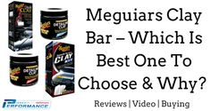 Meguiars Clay Bar – Which Is Best One To Choose and Why? Not sure to buy Meguiars Quik Clay or Meguiars Smooth Surface Clay Bar? What about their Professional Clay Bars. Here we give you all the information to help you make that choice.  #meguiars #claybar #carclay #detailing