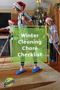 Before opening your home to friends and family for the holidays, tackle a few extra cleaning tasks to get your house in tip-top shape. Use Bounty Paper Towels and your favorite cleaners to power through this easy Winter Cleaning Chore Checklist.