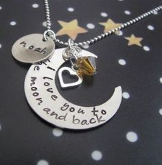 I love you to the moon and back necklace hand by... review | buy, shop with friends, sale | Kaboodle