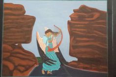 Angel Of Balance Rock by AngelsOnTheRoad on Etsy Balanced Rock, Spring Garden, Solid Oak, Painted Rocks, Angels, Artist, Painting, Etsy