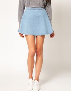 Spring must-haves: The Denim Circle Skirt, seen on ASOS.