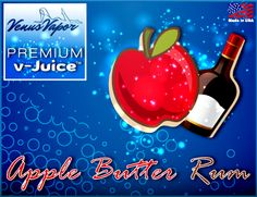 """Apple Butter Rum - Reg. Price $5.99 #CyberMonday: 45% off! Use code """"cybermonday"""" at checkout. #eJuice #vaping #ecigs  http://www.venusvapor.com/product/apple-butter-rum/"""