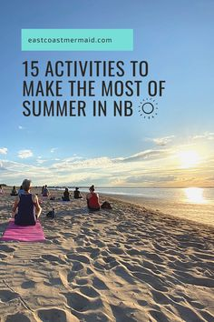 15 mermaid-approved activities to make the most out of summer in New Brunswick. Part of our New Brunswick Staycation series!  #TourismNB #TravelNewBrunswick #NewBrunswick #Canada #Summer Travel Activities, Summer Activities, East Coast Canada, Canada Summer, Fun Walk, Canadian Travel, Atlantic Canada, New Brunswick, Whale Watching