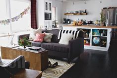 bright and airy living room. we spend so much time in this room.